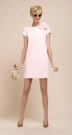 Outfits : Description PAULE KA : A-line dress in ottoman Pink Fashion, Fashion Dresses, Vintage Fashion, Womens Fashion, Pretty Dresses, Beautiful Dresses, Mode Chic, Mode Vintage, Mode Outfits