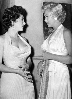 Marilyn Monroe & Gina Lollobrigida