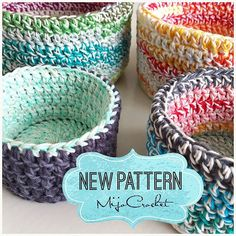 The #doubledoublebasket pattern is now available on my blog! A perfect stash buster or scrap yarn project . Mönstret till Double Double-korgarna finns nu på min blogg. .