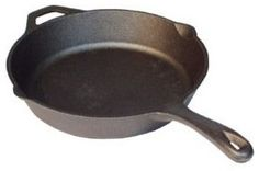 12-Inch Seasoned Cast Iron Skillet traditional cookware and bakeware