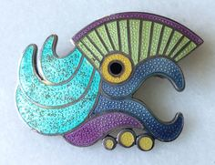 Vintage Margot de Taxco Mexican Sterling Silver & Inlay Parrot Brooch