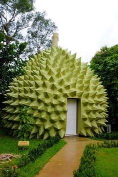 Durian hotel room at Kanchanaburi, Thailand. http://islandinfokohsamui.com/