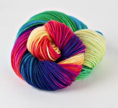 Rainbow yarn,Everlasting Gobstopper - Three Irish Girls