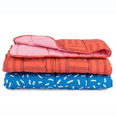 New Blankets - in Raspberry Rectangles and Blueberry Confetti!