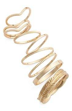 BP. Etched Rings (Set of 8) available at #Nordstrom