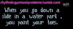 I do this all the time! Then you jam your toes onto the bottom of the pool! XD