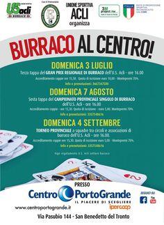San Benedetto del Tronto prima gara di Burraco al Centro domenica 3 luglio