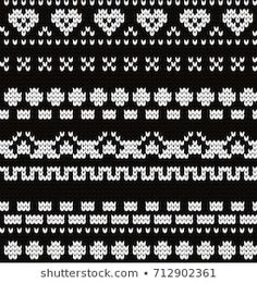 crochet elements Knitted seamless pattern with fair isle elements Cross Stitch Borders, Fair Isle Knitting, Knit Crochet, Diy And Crafts, Android, Pattern, Groomsmen, Punto Croce, Tricot
