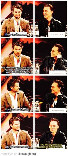 Thor and Loki being manly