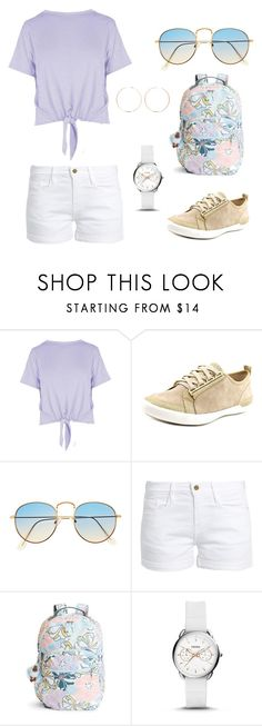 """Vacation"" by ihalmta ❤ liked on Polyvore featuring Boohoo, Calvin Klein, Frame, Kipling, FOSSIL and Anita Ko"