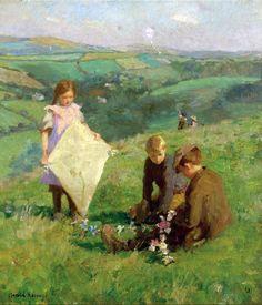 Harold Charles Francis Harvey (American Newlyn School painter) 1874 - 1941  Pioneer of Aerial Navigation, 1913  oil on canvas  46 x 40 cm. (18 x 16 in.)