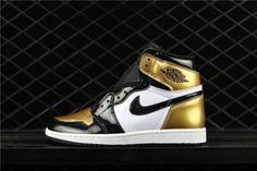 """size 40 a00ea f6456 Air Jordan 1 Retro High OG""""Gold Toe"""" AQ7474-001 Jordan Shoes For"""