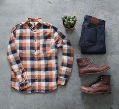 WEBSTA @ awalker4715 - Denim: @katobrand Shirt: @hmBoots: @redwingheritage