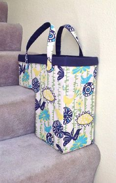 One-Trip-Up the Stairs Basket   Home Decor Sewing Projects That Will Make Your House A Home