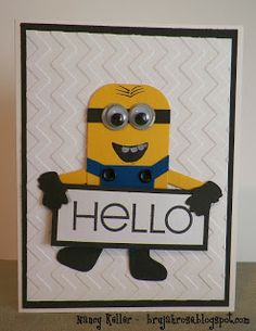 Minion Card and tutorial from Scrap Happens!