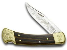BUCK 110 Wooden Whitetail Fever Scrolled Bolster Folding Hunter Pocket Knife Knives -- Check this awesome product by going to the link at the image. Best Pocket Knife, Folding Pocket Knife, Pocket Knives, Folding Knives, Tactical Survival, Survival Knife, Extra Large Dog House, Kennels For Sale, Buck 110