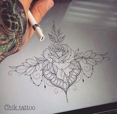 lotus mandala flower tattoo rose lace underboob