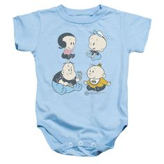 Popeye/Four Friends Infant Snapsuit in Light