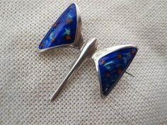 Grethe Prytz Enamel Jewelry, Silver Jewelry, Jewellery, Inexpensive Jewelry, Vitreous Enamel, Design Movements, Silver Enamel, Scandinavian Design, Blue And Silver