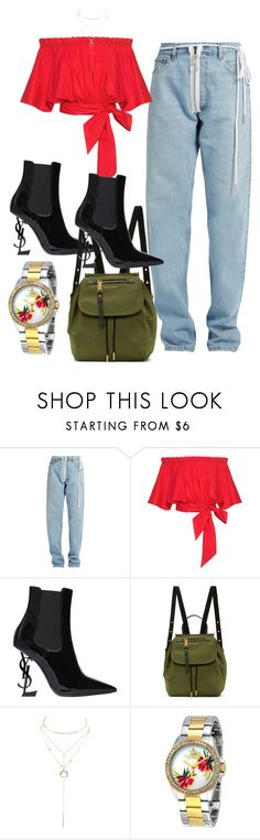 """danijelasparkle.blogspot.com"" by dkfashion-658 on Polyvore featuring Off-White, Saloni, Yves Saint Laurent, Marc Jacobs, Charlotte Russe and Juicy Couture"