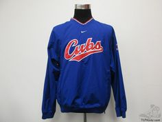 Nike Chicago Cubs Light Pullover Windbreaker Jacket sz M Medium NL SEWN Blue Red #Nike # #tcpkickz