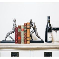 Housewarming Gift For Single Man Strong man bookworm gifts, men Luxury bookends, silver & brass style novelty gifts for him and her in retro vintage stylish designs from our cool home accessories online Unique Gifts For Men, Cool Gifts, Novelty Gifts For Him, Gifts For Bookworms, Presents For Her, Gift Store, Book Worms, House Warming, Home Accessories