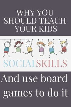 Board games can help your child practice basic social skills; skills that every child should learn. It is your job to model the appropriate skill and. Social Skills For Kids, Social Skills Activities, Teaching Social Skills, Tools For Teaching, Social Work, Educational Board Games, Video Game Rooms, Parent Communication, Board Games For Kids