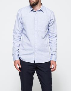 Washed Oxford Button Down In Light Blue