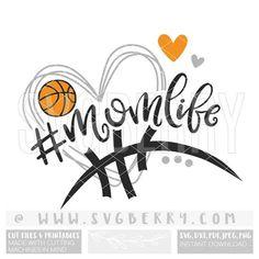 Basketball Mom SVG / Basketball Mom Shirt Tshirt / Basketball Heart Iron On / Basketball Fan Shirt / Basketball Heart, Basketball Signs, Basketball Mom Shirts, Ball Birthday Parties, Fan Shirts, Team Pictures, Silhouette Machine, Baskets On Wall, Boyfriend Gifts