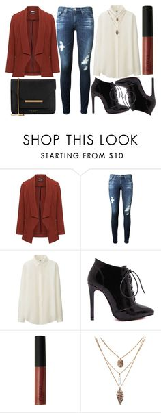 """""""street style"""" by sisaez ❤ liked on Polyvore featuring Manon Baptiste, AG Adriano Goldschmied, Uniqlo, CARGO and Ted Baker"""