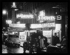 52nd Street, New York, N.Y., ca. 1948. William Gottlieb, photographer,  1948. William P. Gottlieb Collection. Music Division