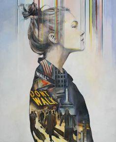"Saatchi Art Artist Arno Bruse; Painting, ""Dont Walk"" #http://www.saatchiart.com/smart.art"