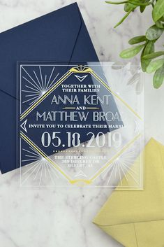There's just something so classy and timeless about clear acrylic invitations, we can't help but love them 😍💌👌 Art Deco Wedding Invitations, Acrylic Wedding Invitations, Unique Wedding Invitations, Save The Date Invitations, Elegant Wedding Invitations, Wedding Stationery, Art Deco Wedding Inspiration, Wedding Invitation Inspiration, Inspiration Boards