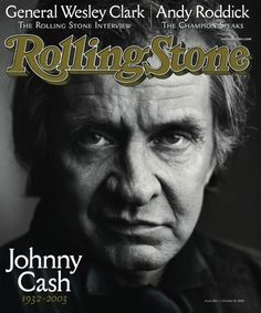 "Johnny Cash passed away.  | 15 ""Rolling Stone"" Covers That Immortalized 2003 In Pop Culture"