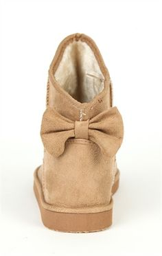 Deb Shops Short Slipper Fur Lined  Bootie with Glitter and Bow Back  25.99  Cute Shoes 022ab6f5760b8