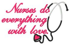 Grand Slam Designs Free Embroidery Design: Stethoscope Love 2.54 inches H x 4.03 inches W