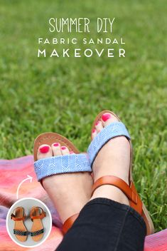 Transform a pair of summer sandals with this DIY.