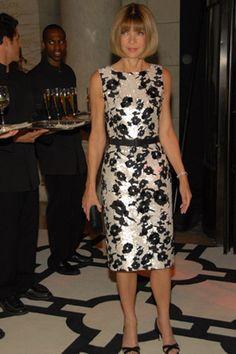 2007 CFDA Fashion Award, Vogue's Anna Wintour, in Oscar de la Renta.photo tag
