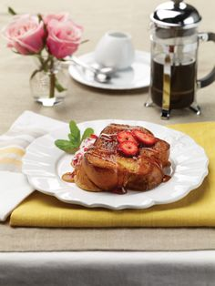"""Strawberry Banana Stuffed French Toast from """"The Healthy Home Cookbook"""" -- Learn to cook for everyone in this guide to making healthy, delicious meals specifically for parties, celebrations, entertaining and other group gatherings."""