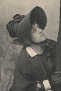"""Ruddigore,"" Haidee Crofton as Mad Margaret, 1887, DOC touring production."
