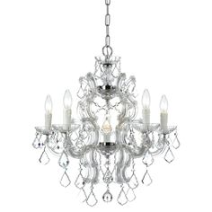Maria Theresa 6-light Chandelier in Chrome   Overstock.com