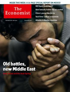 Top Photographic Magazine Covers of 2012: The Economist, November 24, 2012. Photograph by Bernat Armangue—AP