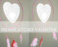 Pretty and romantic dreamcatcher DIY tutorial