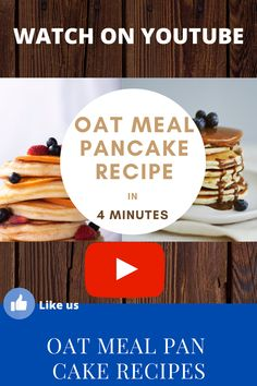 How to make a oat meal pancake recipe, it s just a matter of 10 minutes. If you find this pin useful please save it to your board.