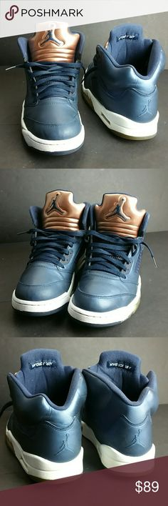 AIR JORDAN 5 RETRO BRONZE MEN'S SHOES IN GOOD CONDITION   SKE # BBC Air Jordan Shoes Athletic Shoes