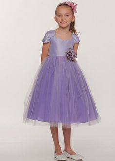 a66f4dfca027 Bonnie - Lavender Dupioni Bodice with Tulle Girl Dress. Lilac FlowersLilac  Flower ...