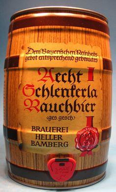 Schlenkerla- smoked beer, tastes like Bacon Bamberg, Franconia, Germany