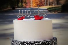 WE DO Cake Topper for Wedding Anniversary or by crosswiredesign, $20.00