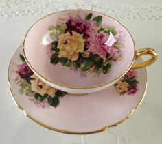 Pink Stanley China Tea Cup & Saucer by TheEclecticAvenue on Etsy