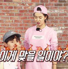 Song Ji Hyo and Lee Kwang Soo, Running Man ep. 323. © on gif